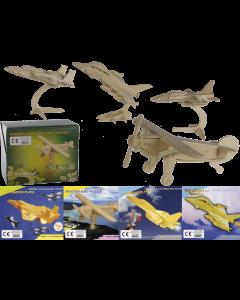 3D puzzels vliegtuigen - 4 stuks