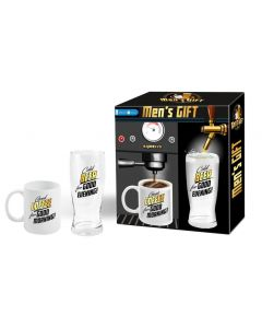 Men's gift coffee and beer